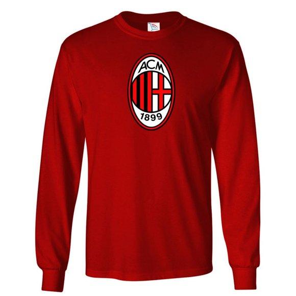 shirtcustomize Other - Men's AC Milan Soccer Logo Long Sleeve
